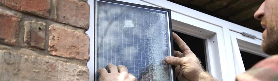 Plaatsen van nieuw stukje glas